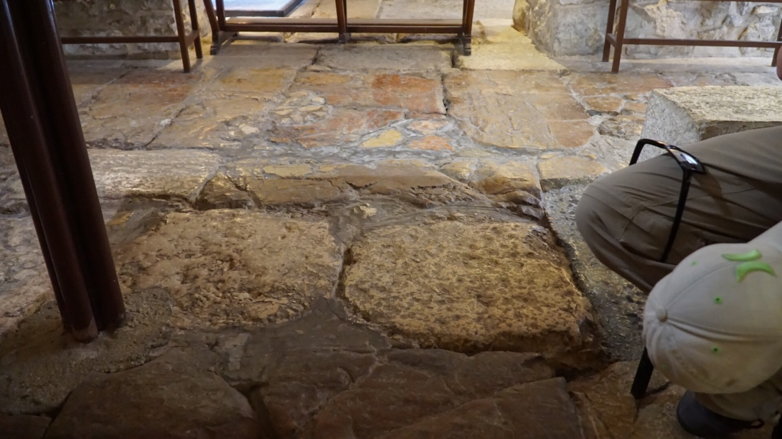 Floor at the Praetorium - where Jesus was beaten