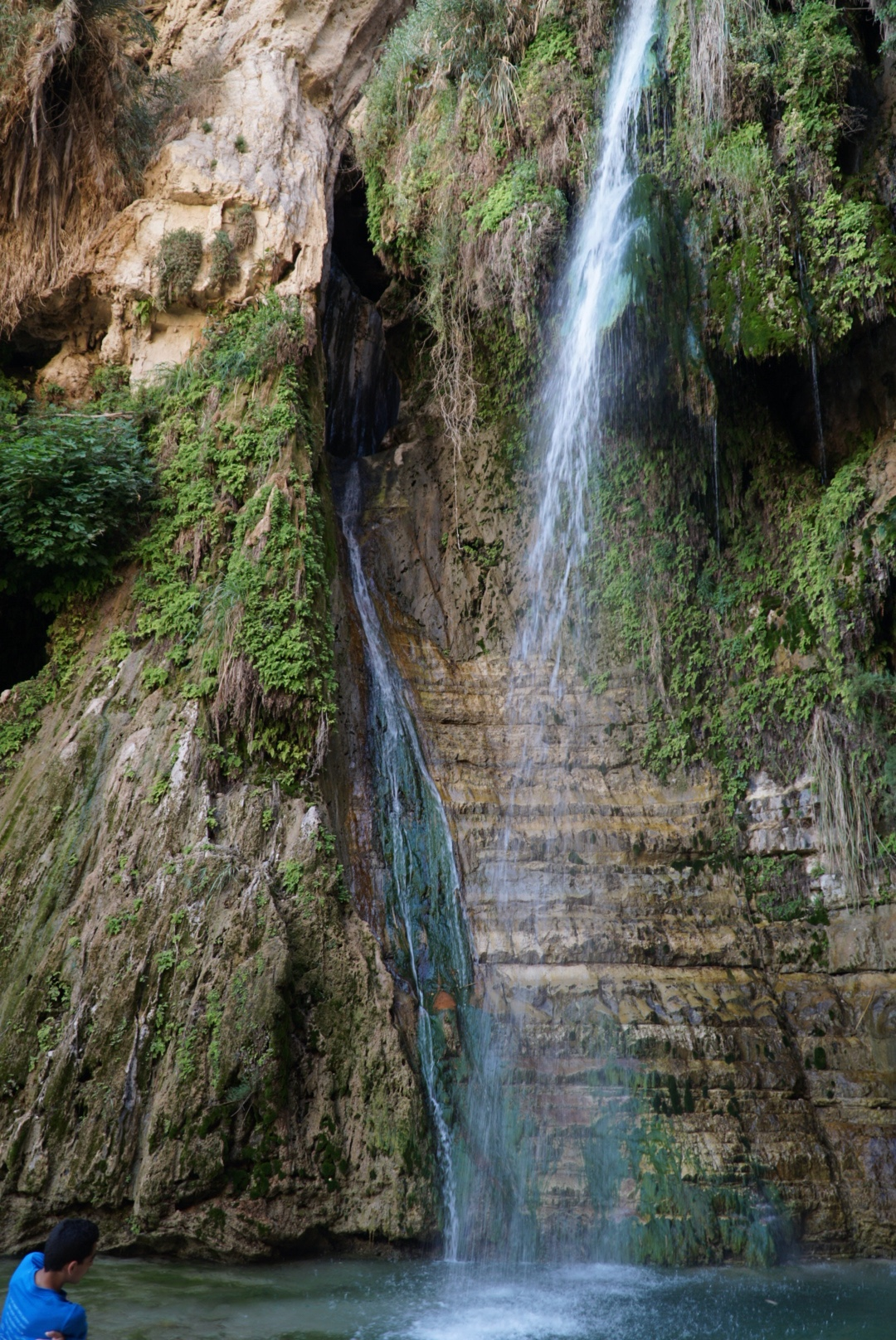 En Gedi waterfall...probable place David and his men hid from King Saul
